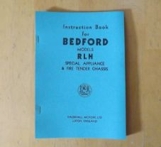 Bedford RLH.Special appliance and tender chassis.Instruction book.